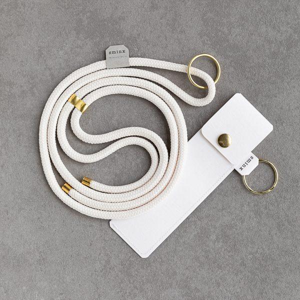Sminx Smart Strings Set aus Handykette in weiss und gold